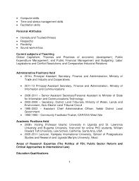 Personal Attributes Resume Examples by List Of Qualities For Resume Samples Of Resumes Personal