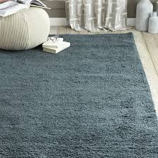 Solid Grey Rug Steven Alan Solid Wool Shag Rug Blue Lagoon West Elm