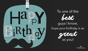 free happy birthday to a great guy ecard email free