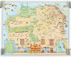 Rare Maps Collection Of The by Map Of San Francisco Showing Principal Streets And Places Of