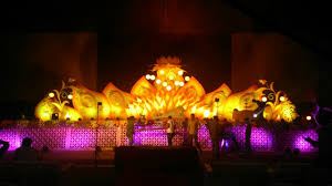 wedding and reception flower decoration and stage decorations in