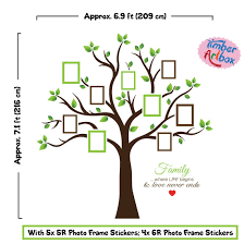 Wire Tree Wall Hanging Home Decor Amazon Com Timber Artbox Large Family Tree Photo Frames Wall