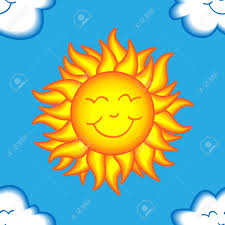 seamless pattern made of happy sun face surrounded by cute smiling