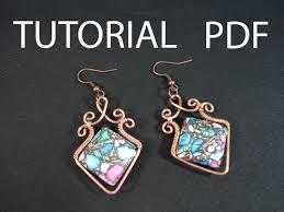 vire earrings wire earrings tutorial wire wrapped tutorial earrings