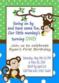 monkey birthday invitation monkey birthday party invitation