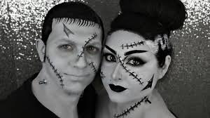 halloween corpse bride makeup frankenstein and his bride couples halloween makeup tutorials