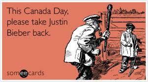 Canada Day Meme - justin bieber my world 2 0 pop singer canada day canada day ecard