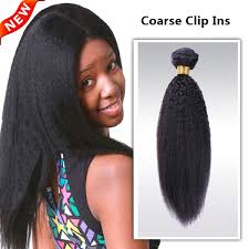 owigs hair extensions jet black 1 indian remy coarse clip in hair extensions coarse01