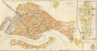 Map Of Venice Venice Italy Map 1933