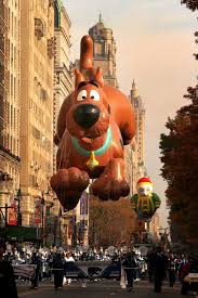 thanksgiving november 22 a scooby doo balloon floats during the 81st annual macy u0027s
