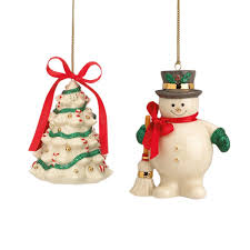 Lenox Christmas Personalized Ornaments by Amazon Com Lenox Holiday Ribbon S 2 Christmas Ornaments Home