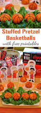 stuffed pretzel basketballs recipe