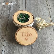 box rings images 1pcs vintage rustic wooden ring box wedding decoration mariage jpg
