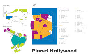 Michigan Casinos Map by Las Vegas Planet Hollywood Hotel Map