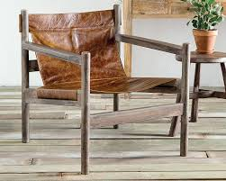 furniture appealing beige leather sling chair for unique chair
