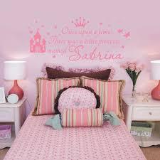 stickers chambre fille princesse w380 nom personnalisé princesse fille wall sticker pour enfants