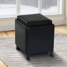 brayden studio carroll storage ottoman with tray u0026 reviews wayfair