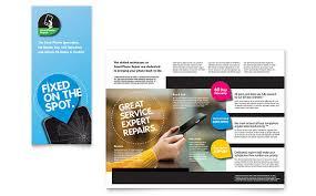 smartphone repair brochure template design by stocklayouts tek