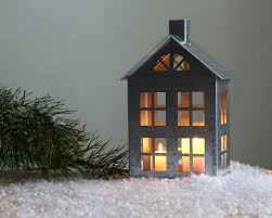 tin home decor tin house candle holder zinc lantern modern home decor