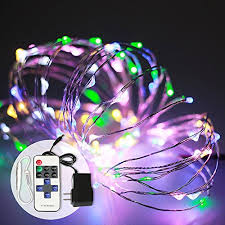 dimmable outdoor led string light 16ft 50 led multi color rgb white outdoor led string lights