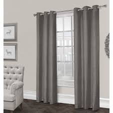 Home Classics Blackout Curtain Panel by Rita Textured Grommet Curtain Panel Black Pearl 84 In At Home