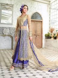 plazzo punjabi dresses buy online beige blue designer plazzo