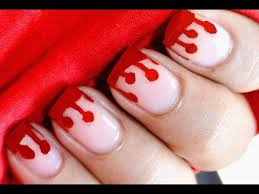 dripping blood nails halloween nail art for kids youtube
