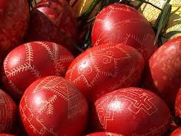 Easter Egg Decorating Beeswax by Red Easter Eggs Done In Serbian Orthodox Tradition With Warm Wax