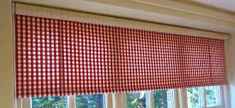 15 collection of red roman blinds kitchen curtain ideas