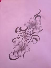 modify photo size butterfly flower tattoo designs free