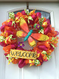 sunflower mesh wreath deco mesh ideas 17504