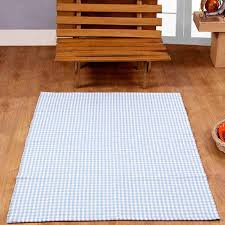 amazon com homescapes 100 cotton gingham check rug hand woven