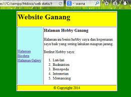 tutorial membuat web html sederhana membuat web statis dengan tabel html seputar teknologi informasi