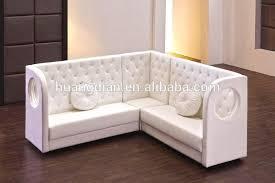 modern restaurant button tufted leather booths corner sofa bench