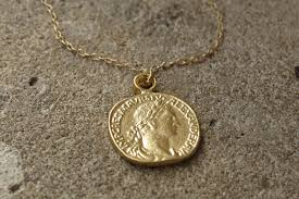 necklace pendant coin images Gold coin necklace gold pendant necklace coin jewelry delicate JPG