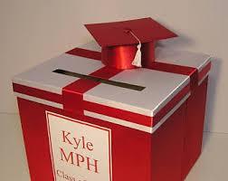 unique graduation card boxes graduation card box etsy