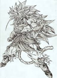 broly drawing by chinoru on deviantart