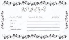 15 new gift certificate templates certificate templates