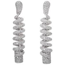 diamond earrings sale de grisogono spiral diamond earrings for sale at 1stdibs