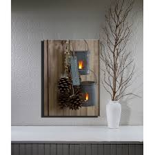 lighted pictures wall decor lighted flicking candles lantaarn canvas led wall art decor framed