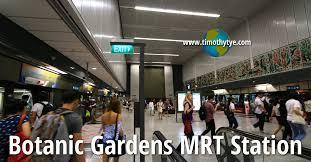 Botanic Garden Mrt Botanic Gardens Mrt Station Cc19 Dt9 Singapore