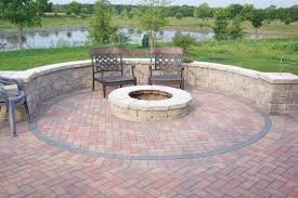 Stone Firepit by Fire Pit Landscaping Ideas With Seating Andrea Outloud