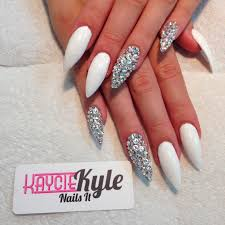 white stiletto nail designs choice image nail art designs