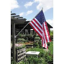 spinning flagpole with 3 ft x 5 ft nyl glo u s flag includes