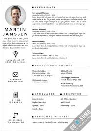 Cv Sjabloon Nederlands cv resume template helsinki docx pptx gosumo