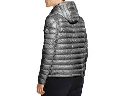 moncler douret quilted down jacket in gray for men lyst