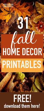 Free Printable Fall Seasonal Home Decor Christ