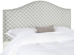 connie grey white headboard silver nail head headboards