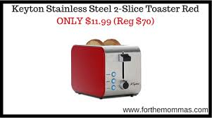 Red 2 Slice Toaster Keyton Stainless Steel 2 Slice Toaster Red Only 11 99 Reg 70 Ftm