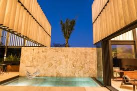 wonderful modern house with slatted marble walls in mexico u2013 news